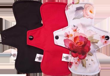Trio de serviettes hygiéniques | Serviette sanitaires lavable | Atelier Zone Verte