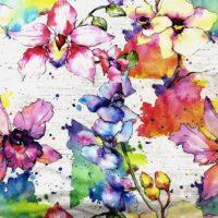 Fleurs aquarelles