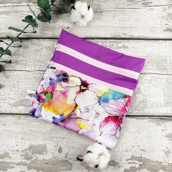 Sac de transport- Duosac - Aquarelle pastelle et violet | AZV