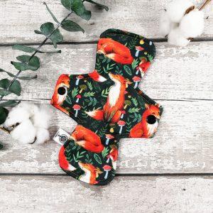 Reusable pad for teen - 8 inches - - Fox and mushroom | AZV
