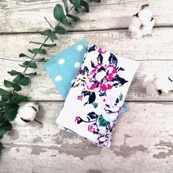 Papier hygiénique réutilisable - Pois et roses vintages | AZV