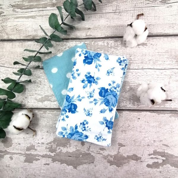 Papier hygiénique réutilisable - Roses bleues | AZV