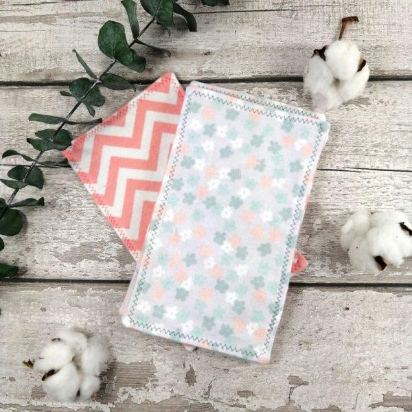 Papier hygiénique réutilisable -Fleurs et zigzag | AZV