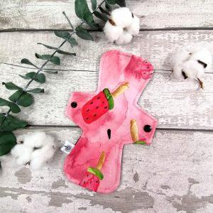 Serviette hygiénique lavable - 9 pouces - Pops melon | AZV