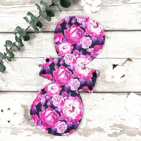 Serviette hygiénique lavable - Ultime- Rose violette   Atelier Zone Verte