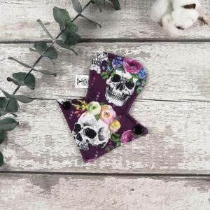Serviette hygiénique lavable pour tanga- 6 pouces - Crâne violet | Atelier Zone Verte